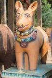 在Kothamangalam马寺庙的黏土狗 免版税库存照片