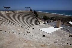 在Kourion,塞浦路斯的废墟 免版税库存照片