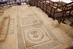 在Kourion,塞浦路斯的废墟 库存照片