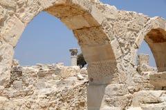 在Kourion,塞浦路斯的罗马废墟 免版税库存照片