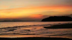 在Krabi泰国的美丽的海滩 库存照片