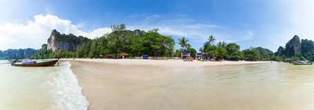 在Krabi泰国的Railay海滩 聚会所 图库摄影