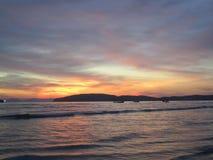 在Krabi的日落 免版税图库摄影