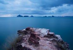 在Krabi,泰国的观点 库存照片