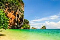 在Krabi,泰国的Pranang海滩 免版税图库摄影