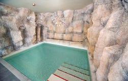 在Kranevo,保加利亚冰水池在一家五星旅馆的温泉中心 图库摄影
