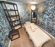 在Kranevo,保加利亚放松按摩室在一家五星旅馆的温泉中心 免版税库存图片