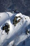 在Krasnaya Polyana的Heli滑雪。 库存图片