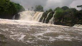 在kribi的Lobé瀑布 库存照片