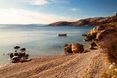 在krk的Stara巴斯卡海湾 免版税图库摄影