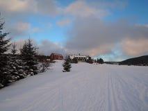 在KrkonoÅ ¡ e的山小屋 库存照片