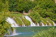 在Krupa河的瀑布  免版税图库摄影