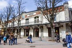 在Krupowki的市场Polski历史建筑 免版税图库摄影