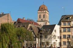 在Krutenau的看法在史特拉斯堡 免版税库存图片