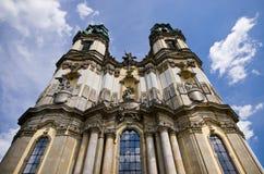 在Krzeszow,波兰的Basilika 免版税库存照片