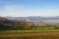 在Krzeszow,波兰附近的横向 库存图片