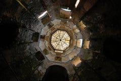 在Krzyztopor城堡,波兰的塔 库存图片