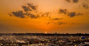 在kumbh的夜间2013年在24.02.2013的allahabad 免版税库存图片
