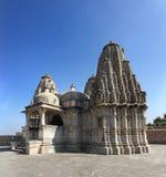 在kumbhalgarh堡垒的印度教寺庙 库存图片