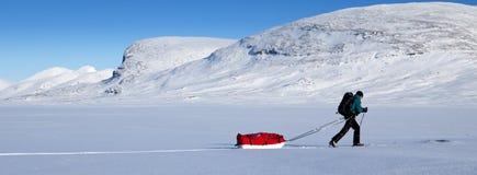 在Kungsleden的冬天 免版税库存照片