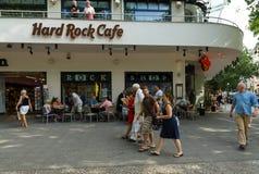 在Kurfuerstendamm的硬石餐厅 图库摄影
