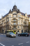 在Kurfurstendamm的历史建筑 商业银行办公室 免版税库存照片