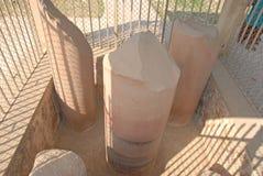 在Kutagarasala Vihara,毗舍离的阿南达Stupa和Asokan柱子, 图库摄影