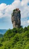 在Kutasi,乔治亚之外的Katskhi柱子 图库摄影