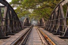 在Kwai河的桥梁 免版税库存图片