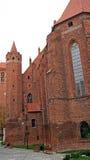 在Kwidzyn的中世纪条顿人城堡 免版税库存图片