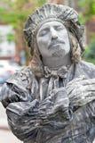 在Kyiv街道上的生存雕塑 库存照片