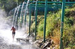 在Kyndyg矿物春天上在阿布哈兹 免版税图库摄影
