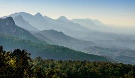 在kyrenia山的日落,北塞浦路斯2 免版税库存照片