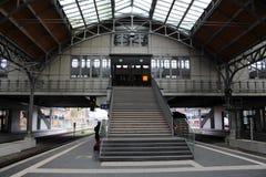 在LÃ ¼贝克的火车站 免版税库存照片