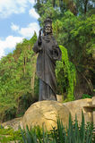 在La别墅de瓜达卢佩河,墨西哥城的克里斯多Rey雕象 免版税库存照片