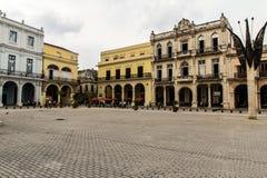 在la哈瓦那的广场vieja 免版税库存图片