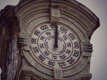 在la外耳海滩的晴雨表塔在Donostia -圣Sebastià ¡ n,西班牙 免版税库存图片
