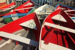 在La拉戈梅拉口岸的小船 免版税库存照片