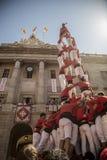 在La梅尔切的Castelers 免版税库存照片