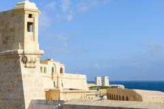 在La瓦莱塔的堡垒圣Elmo 免版税库存照片