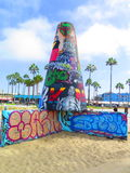 在LA的威尼斯海滩 图库摄影