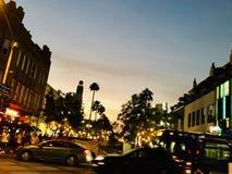 在LA的日落 免版税图库摄影