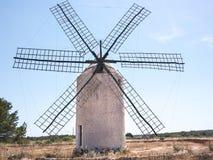 在La翻车鱼的老风车 库存图片