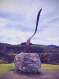在La Arboleda的叉子雕塑在毕尔巴鄂附近 库存图片