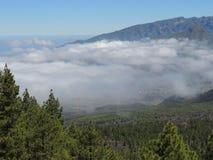 在La Cumbrecita,加那利群岛,西班牙的看法 免版税图库摄影