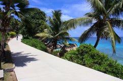 La Digue海岛,塞舌尔群岛 库存照片