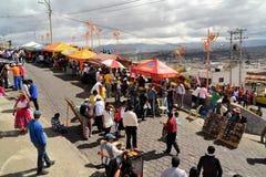 在La Fiesta de la妈妈内格拉期间,食物失去作用 免版税库存图片
