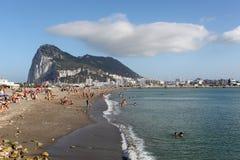 在La Linea,西班牙的海滩 免版税库存照片