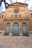 在La Lonja西班牙附近的巴伦西亚Jesuitas教会 免版税库存照片