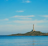 在La Manga Del Mar Menor的Cabo de帕洛斯灯塔 库存图片